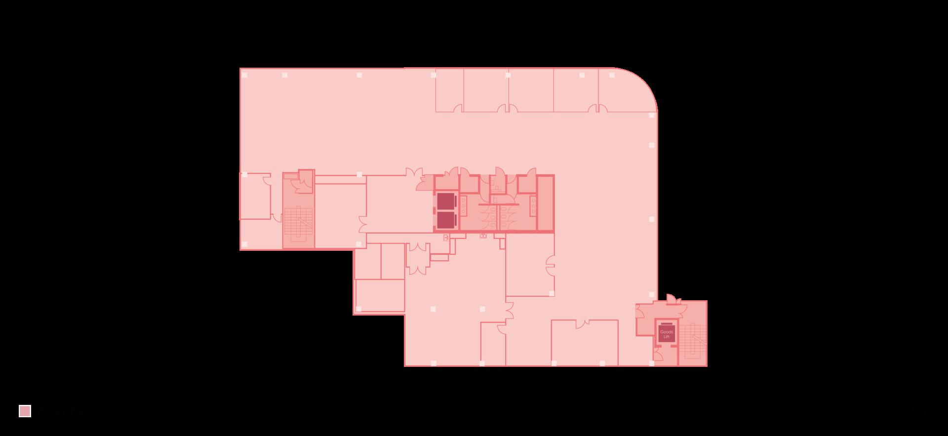 Floor plans of Building HX5 Level 1